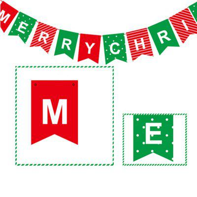 14pcsstrip xm card paper letter christmas decorate banner christmas decorations - Christmas Letter Decorations