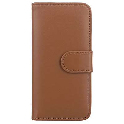 Buy Wkae Solid Color Slim Pattern PU Leather Wallet Stand Case Cover for IPhone X, BROWN, Mobile Phones, Apple Accessories, iPhone Accessories, iPhone Cases/Covers for $7.45 in GearBest store