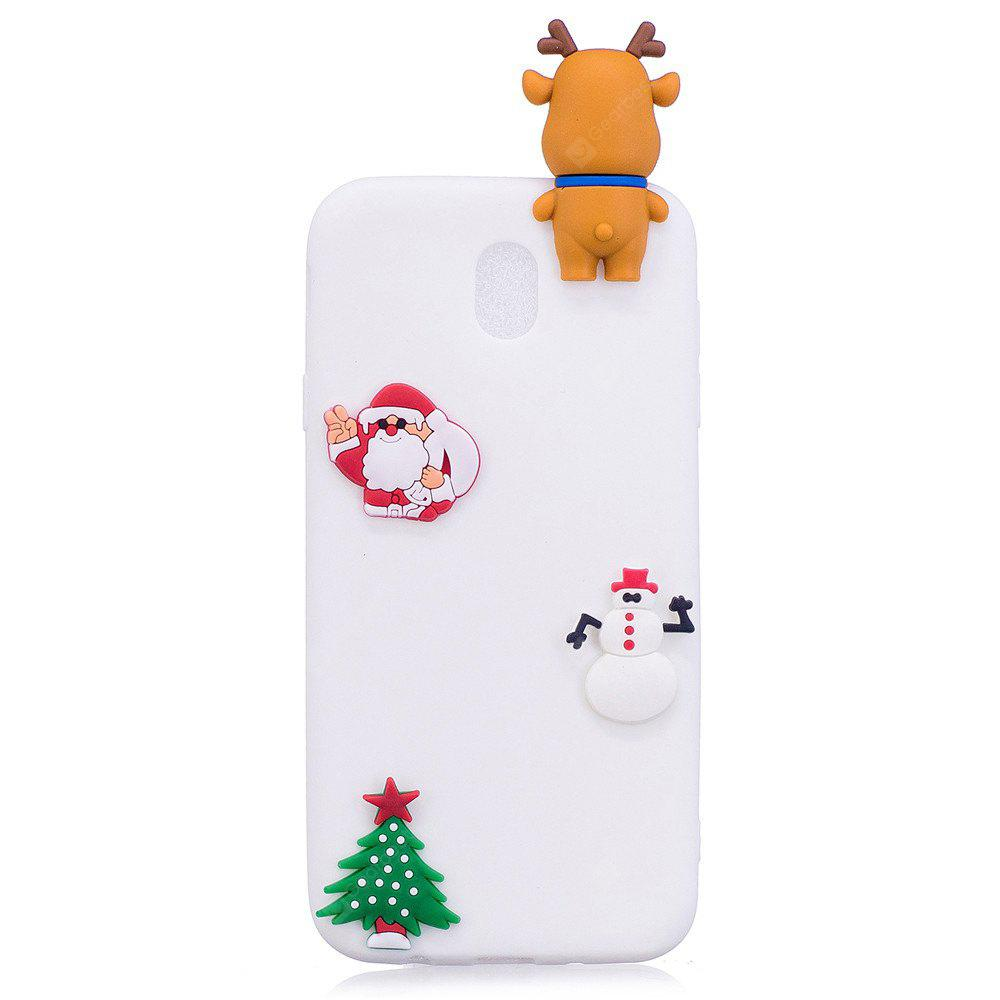 Fashionable Christmas Deer Slicone Case for Samsung Galaxy J730 (2017) / J7 Pro