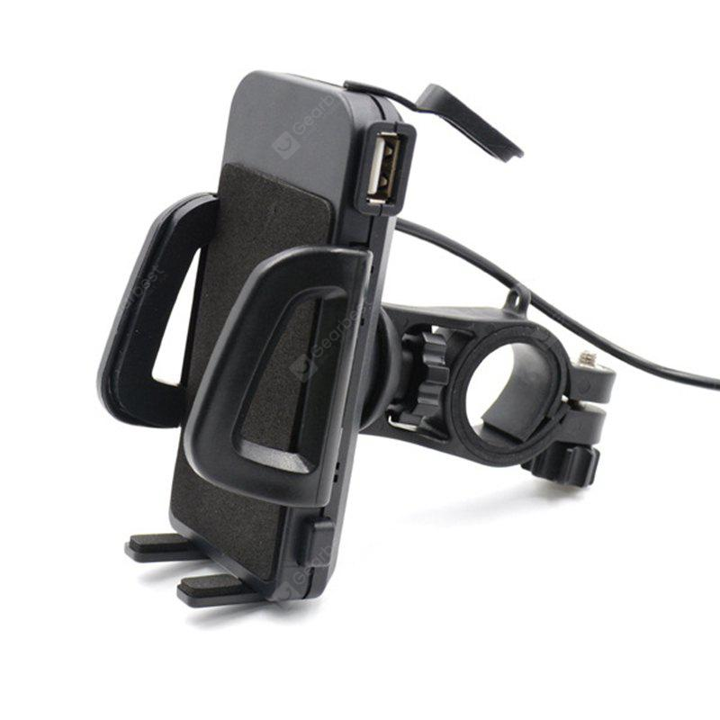 360 Degree Non-Slip Rotating USB Holder Charger for Motorcycle / Electric Bike
