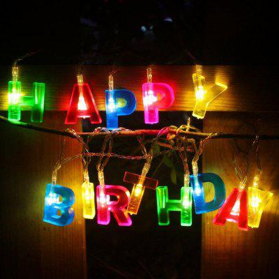 Colorful Happy Birthday Letter Festival Decorative Light String