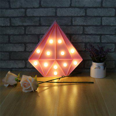Buy Fashion Diamond Shape Table Lamp Bedroom Decoration Night Light, PINK, Home & Garden, Home Decors, Decorative Lights for $11.00 in GearBest store