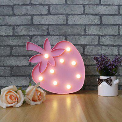 Buy Lovely Strawberry LED Light Christmas Decor Children Bedroom Night Lamp, PINK, Home & Garden, Home Decors, Decorative Lights for $14.13 in GearBest store
