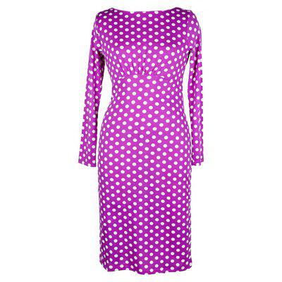 Womens Wear Long-Sleeve Retro Point Stitching Self-Cultivation DressWomens Dresses<br>Womens Wear Long-Sleeve Retro Point Stitching Self-Cultivation Dress<br><br>Dresses Length: Knee-Length<br>Elasticity: Micro-elastic<br>Fabric Type: Broadcloth<br>Material: Polyester<br>Neckline: Round Collar<br>Package Contents: 1xDress<br>Pattern Type: Polka Dot<br>Season: Fall<br>Silhouette: Straight<br>Sleeve Length: Long Sleeves<br>Style: Vintage<br>Weight: 0.2000kg<br>With Belt: No