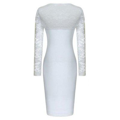 Womens Wear Long-Sleeve Lace Sexy Stitching Fashion DressBodycon Dresses<br>Womens Wear Long-Sleeve Lace Sexy Stitching Fashion Dress<br><br>Dresses Length: Knee-Length<br>Elasticity: Micro-elastic<br>Fabric Type: Broadcloth<br>Material: Cotton Blend, Lace<br>Neckline: V-Neck<br>Package Contents: 1xDress<br>Pattern Type: Solid<br>Season: Fall<br>Silhouette: Straight<br>Sleeve Length: Long Sleeves<br>Style: Sexy &amp; Club<br>Weight: 0.2000kg<br>With Belt: No