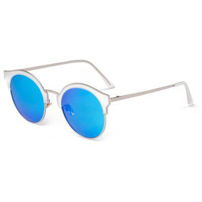 Buy ICE BLUE TOMYE 6112 HD Polarized Sunglasses Stainless Steel Polaroid Lenses for $26.23 in GearBest store
