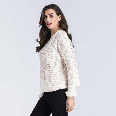 Womens Fashion Round Neck Piercing Long-Sleeved Knitted SweaterSweaters &amp; Cardigans<br>Womens Fashion Round Neck Piercing Long-Sleeved Knitted Sweater<br><br>Collar: Round Neck<br>Elasticity: Elastic<br>Material: Acrylic<br>Package Contents: 1 x Sweater<br>Sleeve Length: Full<br>Style: Fashion<br>Type: Pullovers<br>Weight: 0.3500kg