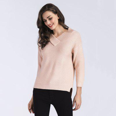 Womens Fashion V-Necked Long-Sleeved SweaterSweaters &amp; Cardigans<br>Womens Fashion V-Necked Long-Sleeved Sweater<br><br>Collar: V-Neck<br>Elasticity: Elastic<br>Material: Acrylic<br>Package Contents: 1 x Sweater<br>Sleeve Length: Full<br>Style: Fashion<br>Type: Pullovers<br>Weight: 0.4000kg