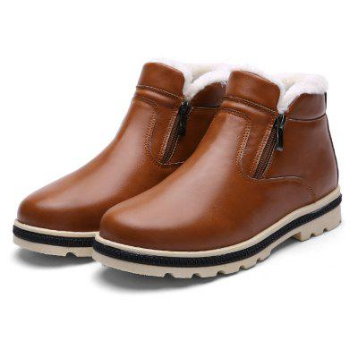 """High Vamp Winter Warm BootsMens Boots<br>High Vamp Winter Warm Boots<br><br>Boot Height: Ankle<br>Boot Type: Work &amp; Safety<br>Closure Type: Zip<br>Embellishment: None<br>Gender: For Men<br>Heel Hight: Low(0.75""""-1.5"""")<br>Heel Type: Flat Heel<br>Insole Material: Rubber<br>Lining Material: Plush<br>Outsole Material: Rubber<br>Package Contents: 1?Shoes(pair)<br>Pattern Type: Others<br>Season: Winter<br>Shoe Width: Medium(B/M)<br>Toe Shape: Round Toe<br>Upper Material: PU<br>Weight: 1.0200kg"""
