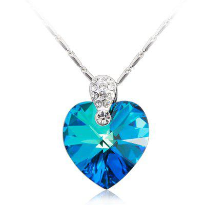 Crystals Heart Necklaces Pendants for Women Fashion Jewelry Birthday Best Friends Gifts