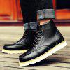 Buy Martin Men's Frock Trend Leather Boots Winter 44 BLACK