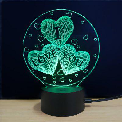 M.Sparkling TD078 Creative Love Day Lámpara LED 3D