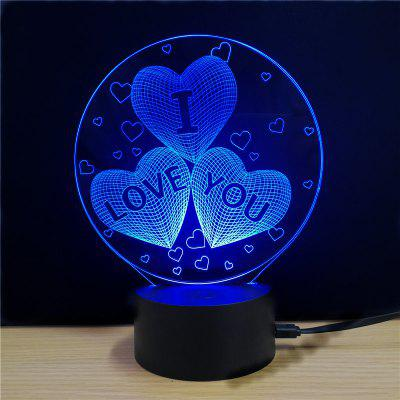 M.Sparkling TD078 Creative Love Day 3D LED Lamp3D Lamps<br>M.Sparkling TD078 Creative Love Day 3D LED Lamp<br><br>Brand: M.Sparkling<br>Feature: Rechargeable<br>Light Source Color: RGB<br>Package Content: 1xAcrylicBoard,1xABSPedestal,1xUSBCable,1xEnglishManual<br>Package Size ( L x W x H ): 24.00 x 17.00 x 9.00 cm / 9.45 x 6.69 x 3.54 inches<br>Product Size(L x W x H): 15.00 x 22.00 x 8.50 cm / 5.91 x 8.66 x 3.35 inches<br>Type: Valentines<br>Voltage (V): 5V