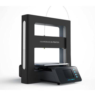 JGAURORA A5 Updated Large Printing Size 3D Printer3D Printers, 3D Printer Kits<br>JGAURORA A5 Updated Large Printing Size 3D Printer<br><br>Brand: JGAURORA<br>Certificate: CE,RoHs<br>Connector Type: USB, SD card<br>File format: OBJ, JPG, G-code, BMP<br>Language: Chinese,English,French,German,Japanese,Portuguese,Spanish<br>Layer thickness: 0.1-0.3mm<br>LCD Screen: Yes<br>Material diameter: 1.75mm<br>Memory card offline print: SD card<br>Model: A5<br>Model supporting function: Yes<br>Nozzle diameter: 0.4mm<br>Nozzle quantity: Single<br>Nozzle temperature: Room temperature to 250 degree<br>Package size: 64.00 x 60.00 x 26.00 cm / 25.2 x 23.62 x 10.24 inches<br>Package weight: 16.0000 kg<br>Packing Contents: 1 x Fully-assembled A5 Printer, 1 x Spool, 1 x USB 2.0 Cable, 1 x Power Cable, 1 x USB 3.0 Stick, 2 x Allen Wrench<br>Packing Type: Assembled packing<br>Platform board: Aluminum Alloy + Glass<br>Platform temperature: Room temperature to 110 degree<br>Print speed: 10 - 150mm/s<br>Product forming size: 305 x 305 x 320mm<br>Product size: 53.80 x 55.30 x 54.30 cm / 21.18 x 21.77 x 21.38 inches<br>Product weight: 13.8000 kg<br>System support: Windows 7 / Windows 10 / Windows XP<br>Type: CNC, Complete Machine, Metal<br>Voltage: 110-240V<br>Working Power: 200W<br>XY-axis positioning accuracy: 0.011mm