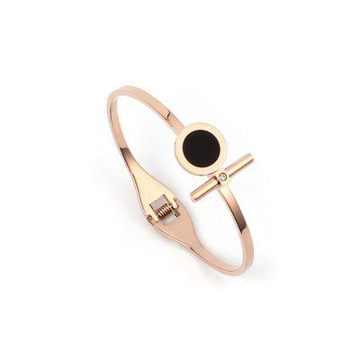 2017 Titanium Rose Gold Plated Bracelet Stainless Steel Jewelry Lady BangleBracelets &amp; Bangles<br>2017 Titanium Rose Gold Plated Bracelet Stainless Steel Jewelry Lady Bangle<br><br>Closure Type: Toggle clasps<br>Diameter of Bangle: 6cm<br>Gender: For Women<br>Item Type: Bangle<br>Metal Type: Stainless Steel<br>Package Contents: 1 x Bangle<br>Package size (L x W x H): 8.00 x 7.00 x 1.00 cm / 3.15 x 2.76 x 0.39 inches<br>Package weight: 0.0200 kg<br>Shape/Pattern: Round<br>Style: Classic<br>Surface Plating: 18K Gold Plated