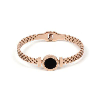Buy ROSE GOLD 1PC Titanium Bracelet Color Rose Gold Plated Stainless Steel Bracelet Jewelry for $14.54 in GearBest store