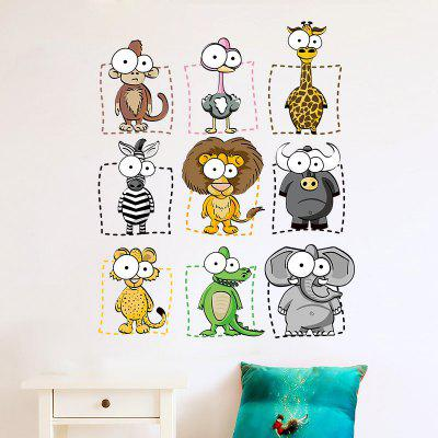 Buy DSU Funny Animal Removable Wall Sticker Kids Bedroom Living Room Decal, COLORFUL, Home & Garden, Home Decors, Wall Art, Wall Stickers for $6.18 in GearBest store