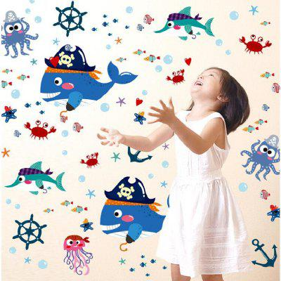 Buy DSU Cartoon Shark Pirate Wall Sticker TV Removable Backdrop Home Decor, COLORFUL, Home & Garden, Home Decors, Wall Art, Wall Stickers for $4.87 in GearBest store