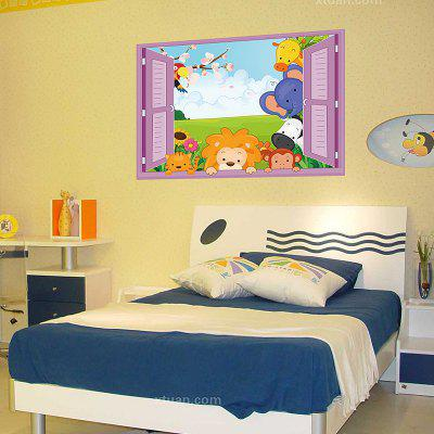 Buy DSU 3D Stereo Effect False Window Wall Sticker Kids Room Kindergarten Home Cartoon Cute Decal, COLORFUL, Home & Garden, Home Decors, Wall Art, Wall Stickers for $4.64 in GearBest store