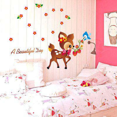 Buy DSU Cartoon Deer Squirrel Bird Animal Wall Stickers for Kids Room Decorations Cartoon Decal, COLORFUL, Home & Garden, Home Decors, Wall Art, Wall Stickers for $6.23 in GearBest store