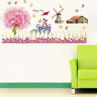 Buy DSU Windmills Fences DIY Vinyl Wall Sticker for Kids Room Living Room Bedroom, COLORFUL, Home & Garden, Home Decors, Wall Art, Wall Stickers for $6.23 in GearBest store