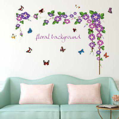 Buy DSU Large Morning Glory Flower Vines Wall Sticker Vinyl Art Removeable Home Decoration Decal, COLORFUL, Home & Garden, Home Decors, Wall Art, Wall Stickers for $5.20 in GearBest store