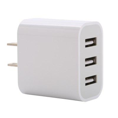 New Mobile Phone Charger Beauty Regulation 3 USB Charger Intelligent Distribution Current 5 V 3 A