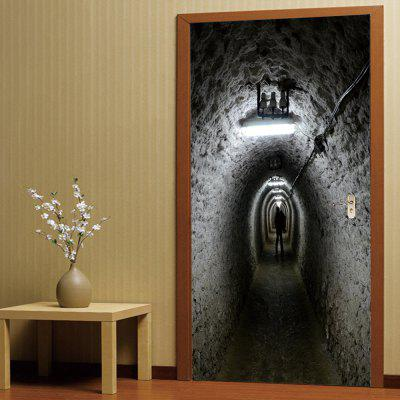 Buy 3D Self Adhesive Miner Tunnel Door Sticker Home Decal, COLORMIX, Home & Garden, Home Decors, Wall Art, Wall Stickers for $18.40 in GearBest store