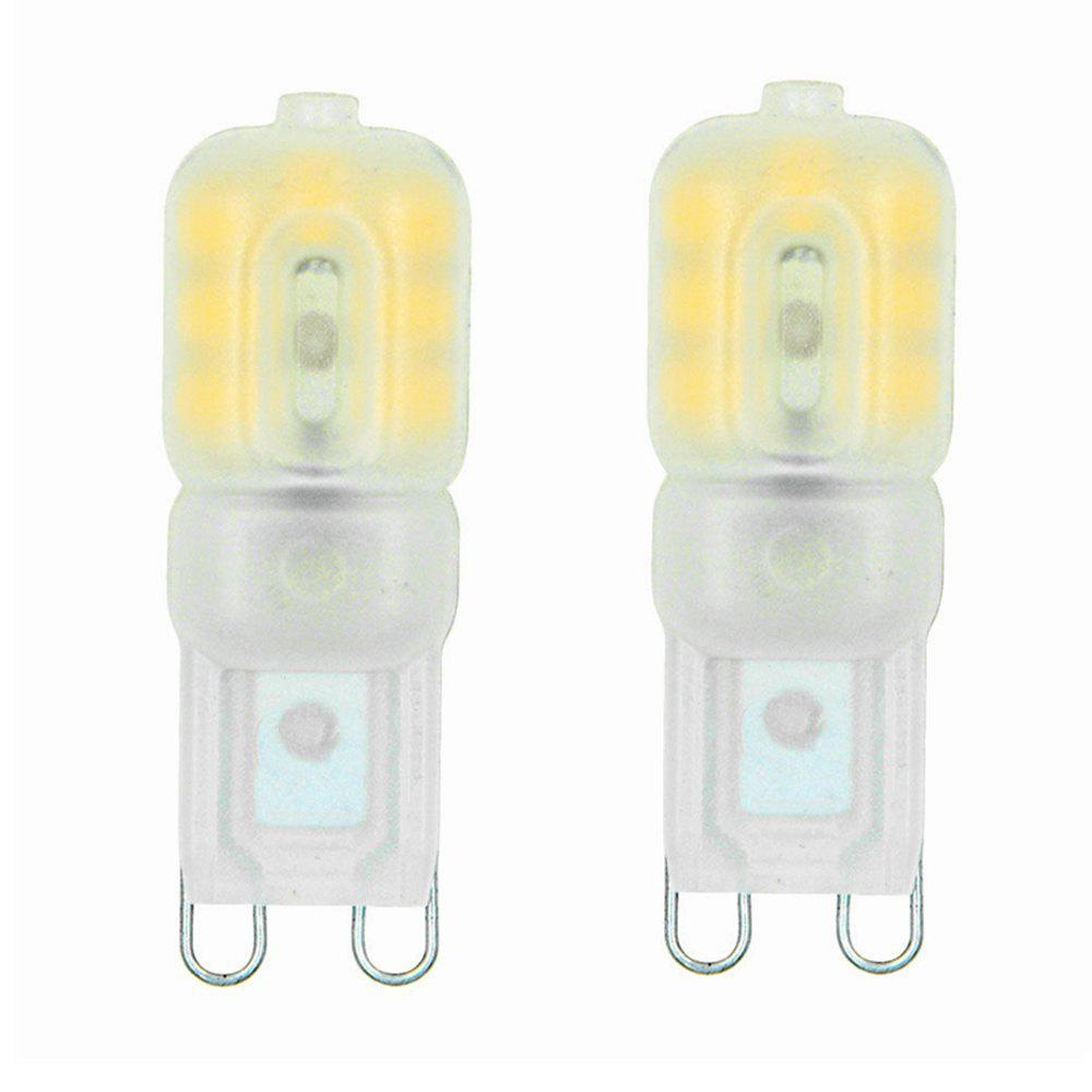 Sencart G9 3W LED Dimmable Light with Cream PC Cover 14 x 2835 SMD Bulb AC220 - 240V 2PCS