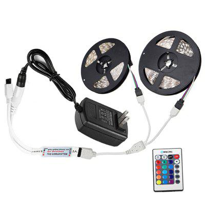 Brelong 10M  2835SMD RGB 600 LED Strip Light + Controller + Cable Connector + Adapter 3A EU / US 100 - 240V