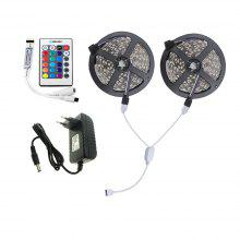 Brelong 10M 2835SMD RGB 600 LED RGB Non-waterproof Strip Light + Controller + Cable Connector + Adapter 3A EU / US 100 - 240V