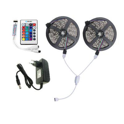 Buy RGB US Brelong 10M 2835SMD RGB 600 LED RGB Non-waterproof Strip Light + Controller + Cable Connector + Adapter 3A EU / US 100 240V for $14.83 in GearBest store