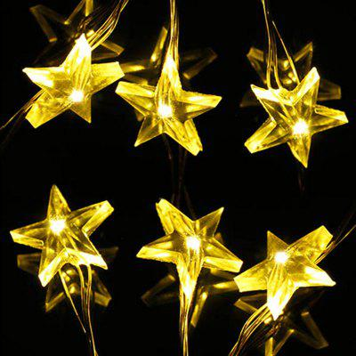 JIAWEN 10M 100LEDs Christmas Decorative Star Copper String Light for Holiday Party Decoration AC 100 - 240V