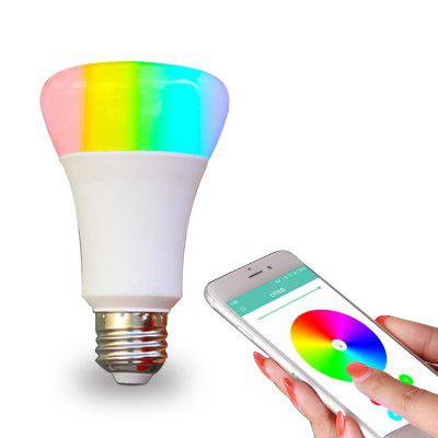 Gearbest Jiawen Smart LED WiFi RGBW Light Bulb Working with Amazon Alexa AC 110 - 220V