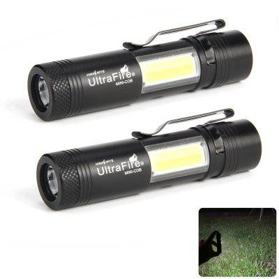 UltraFire MINI - COB 250 Lumens XPE 4 Gear Clip Flashlight 2PCS