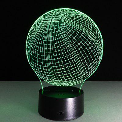 Yeduo Novelty 3D Visual Acrylic LED Night Light Basketball USB Lighting Bedroom Table LampDecorative Lights<br>Yeduo Novelty 3D Visual Acrylic LED Night Light Basketball USB Lighting Bedroom Table Lamp<br><br>Package Contents: 1 x Night Light, 1 x USB Cable<br>Package size (L x W x H): 25.00 x 14.00 x 10.00 cm / 9.84 x 5.51 x 3.94 inches<br>Package weight: 0.4100 kg<br>Product size (L x W x H): 22.00 x 13.00 x 9.00 cm / 8.66 x 5.12 x 3.54 inches<br>Product weight: 0.4000 kg