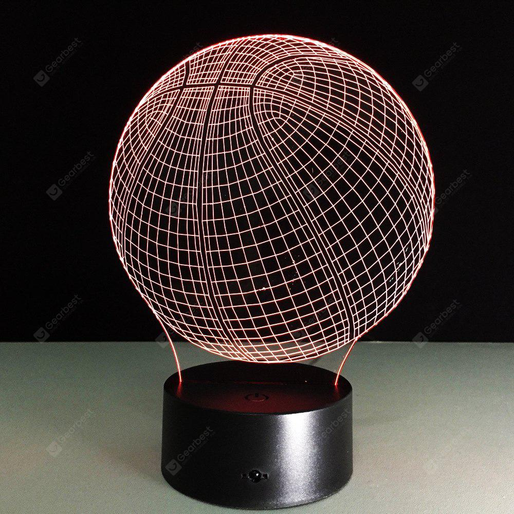 Yeduo Novelty 3D Visual Acrylic LED Night Light Basketball USB Lighting Bedroom Table Lamp