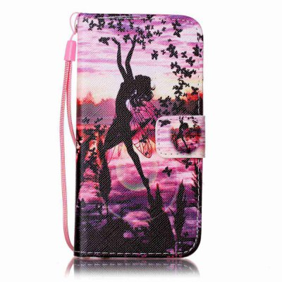 Buy PURPLE Painted PU Phone Case for iPhone 6 / 6S for $4.49 in GearBest store