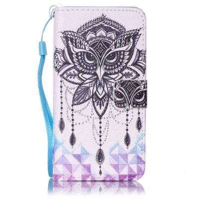 Buy WHITE Painted PU Phone Case for Samsung Galaxy A5 for $5.22 in GearBest store