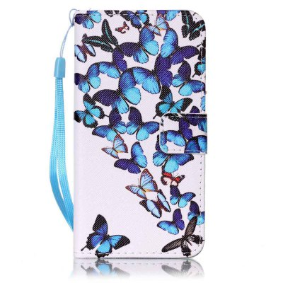 Buy BLUE Painted PU Phone Case for Samsung Galaxy A5 for $5.22 in GearBest store