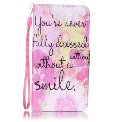 Buy PINK Painted PU Phone Case for Samsung Galaxy A5 for $5.22 in GearBest store