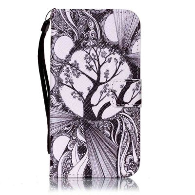 Buy Painted PU Phone Case for Samsung Galaxy S5 BLACK WHITE for $6.22 in GearBest store