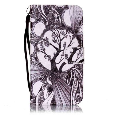 Buy Painted PU Phone Case for Samsung Galaxy S6 BLACK WHITE for $6.21 in GearBest store
