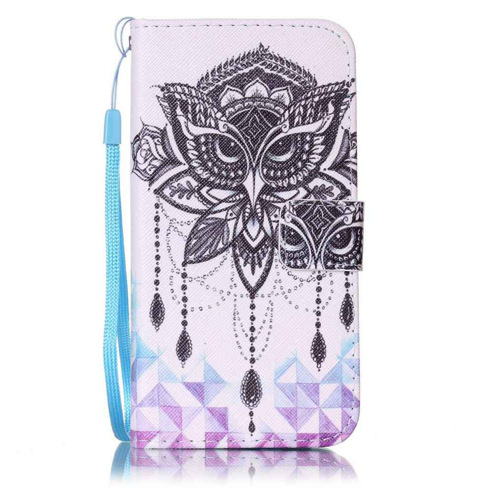 Painted PU Phone Case for Samsung Galaxy S6