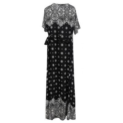 V-neck Printing  with Short Sleeves Collect Waist DressMaxi Dresses<br>V-neck Printing  with Short Sleeves Collect Waist Dress<br><br>Dresses Length: Ankle-Length<br>Elasticity: Nonelastic<br>Fabric Type: Broadcloth<br>Material: Polyester<br>Neckline: V-Neck<br>Package Contents: 1 x Dress<br>Pattern Type: Print<br>Season: Summer<br>Silhouette: Beach<br>Sleeve Length: Short Sleeves<br>Style: Bohemian<br>Weight: 0.2600kg<br>With Belt: Yes