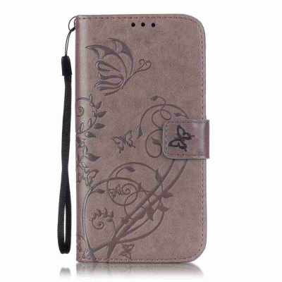 Single Embossed - Butterfly Flower PU Phone Case for Samsung Galaxy S7 Edge