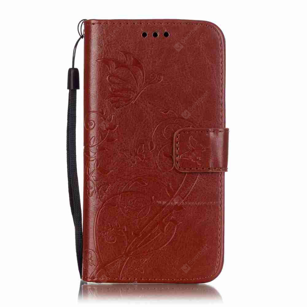 Single Embossed - Butterfly Flower PU Phone Case for Samsung Galaxy   J3 2015 / 2016