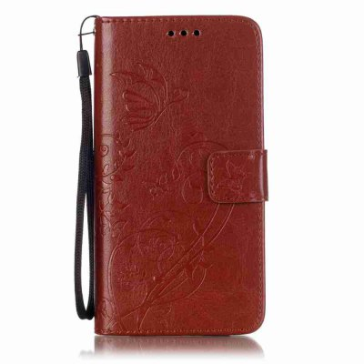 Single Embossed - Butterfly Flower PU Phone Case for Samsung Galaxy   A5 2016