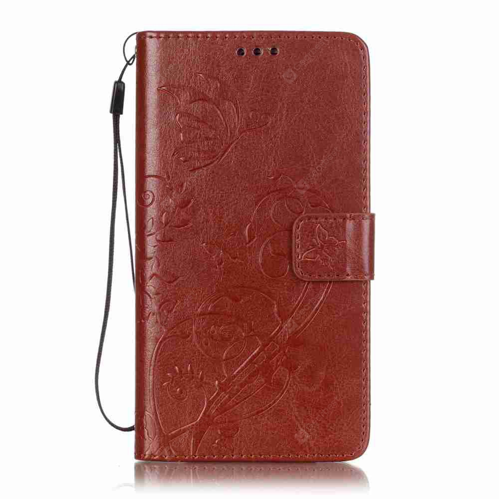 Single Embossed - Butterfly Flower PU Phone Case for Samsung Galaxy   J7 2016