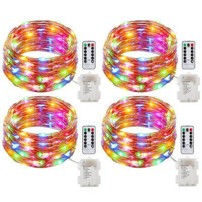 SUPli 20M 200LEDs 8 Modes 4 Pack Battery Operated Fairy String Light with Waterproof Copper Wire Firefly Remote Controller